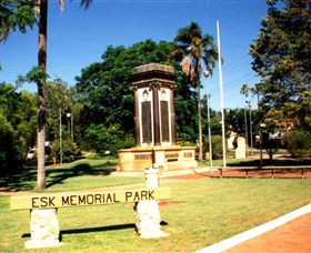 Esk War Memorial and Esk Memorial Park - Accommodation Great Ocean Road