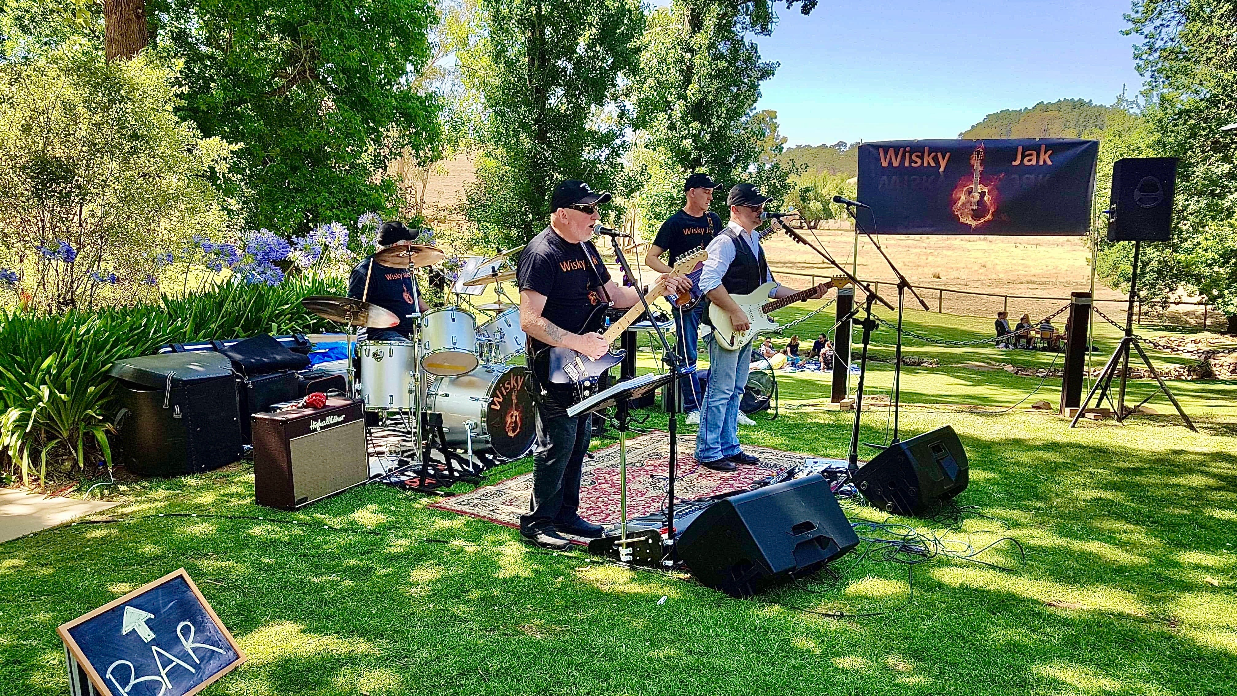 Angas Plains Wines Live in the Vines with the band -Wisky Jak - Accommodation Great Ocean Road