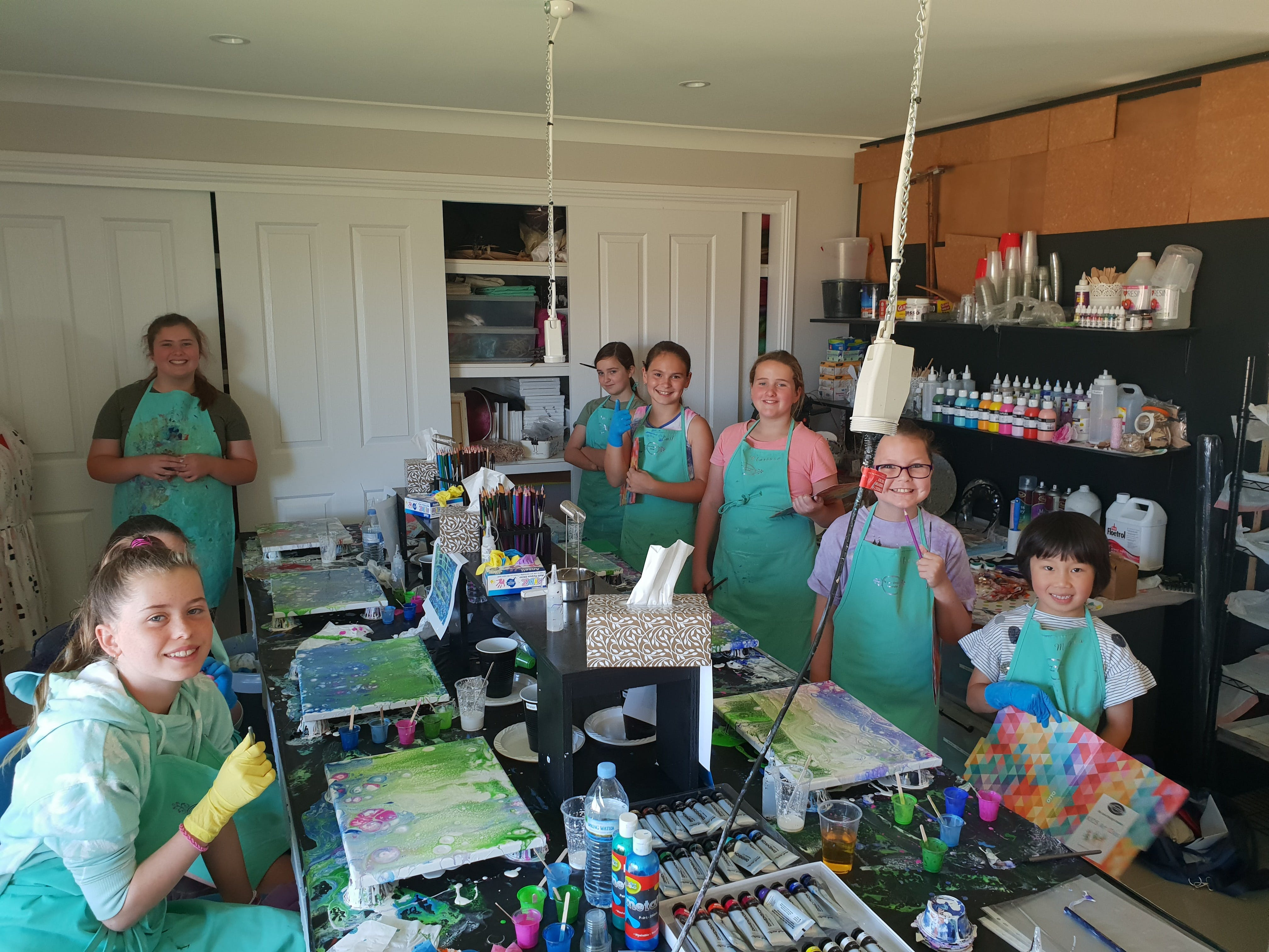 School holidays - Kids art class - Painting - Accommodation Great Ocean Road