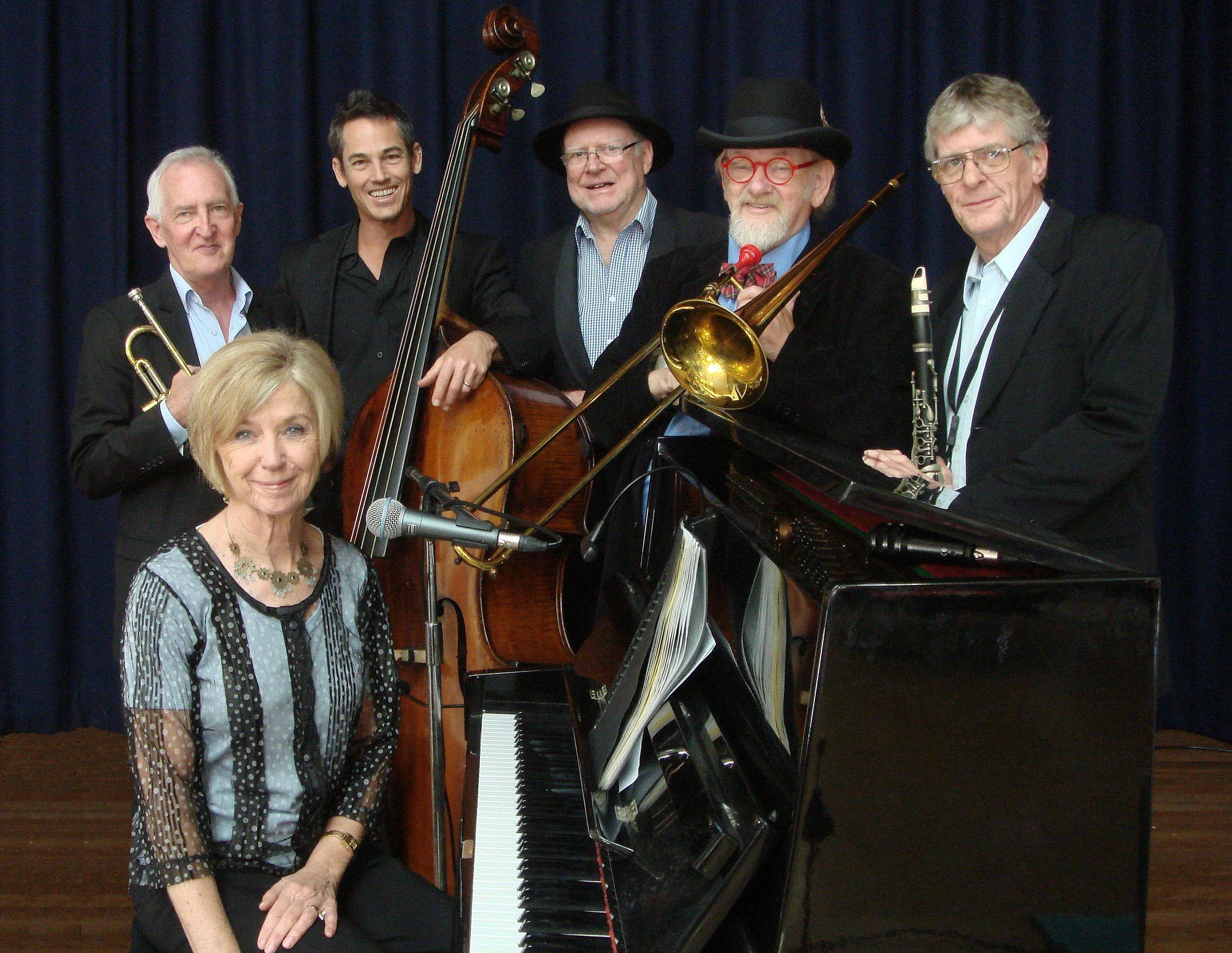 The Caxton Street Jazz Band in the Swigmore Hall at Robert Channon Wines - Accommodation Great Ocean Road